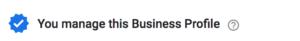 Verified Business Profile Listing