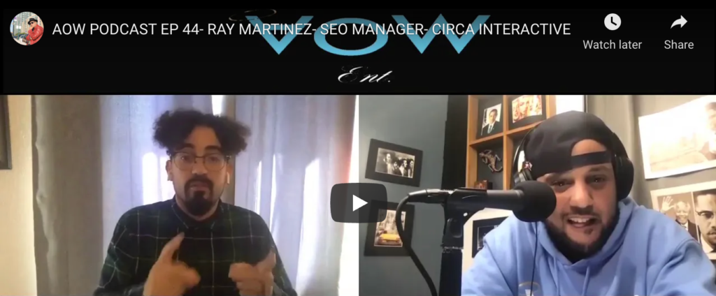 Ray Martinez on AOW Podcast Episode 44
